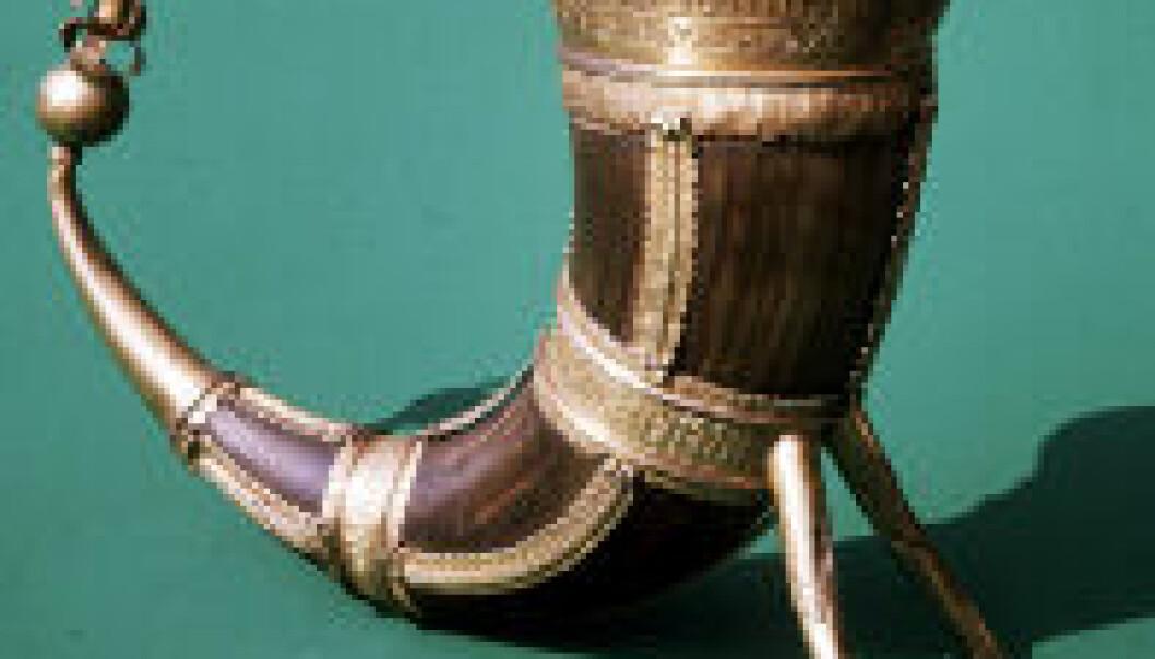 """""""Det flotte Nerstenhornet fra middelalderen er stilt ut ved Aust-Agder-Museet i Arendal."""""""