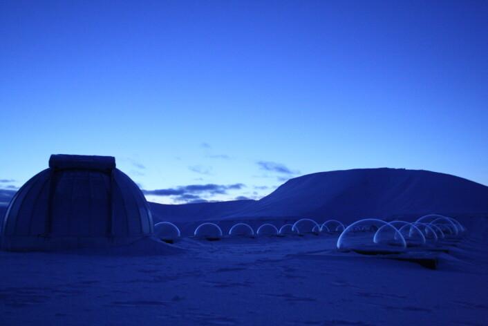 """""""Nordlysobservatoriet på Svalbard."""""""