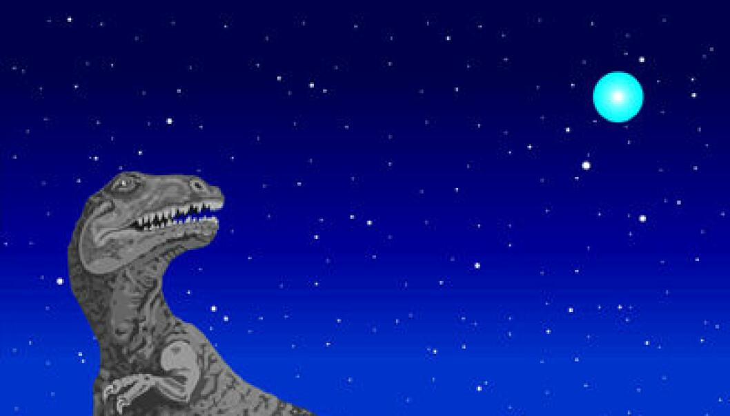 """""""Sikter strålebuntene fra hypernovaen i retning Jorden, observerer vi et blaff av gammastråling - et gammaglimt. De aller fleste kildene ligger svært langt borte så lyset har vært underveis i milliarder av år. (Illustrasjon: Einar Bordewich)"""""""