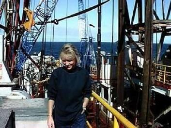 """""""Ingunn Thorseth ombord i i boreskipet Joides Ressolution."""""""