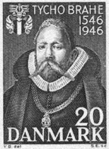 """""""Tycho Brahe er naturligvis representert på danske frimerker - som både Danmarks og Nordens største astronom gjennom tidene."""""""