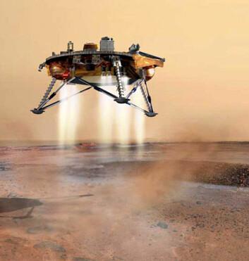 """""""Modell av NASAs nye Mars-lander, Phoenix. Phoenix skal lete etter vannis ved Mars' nordlige pol."""""""