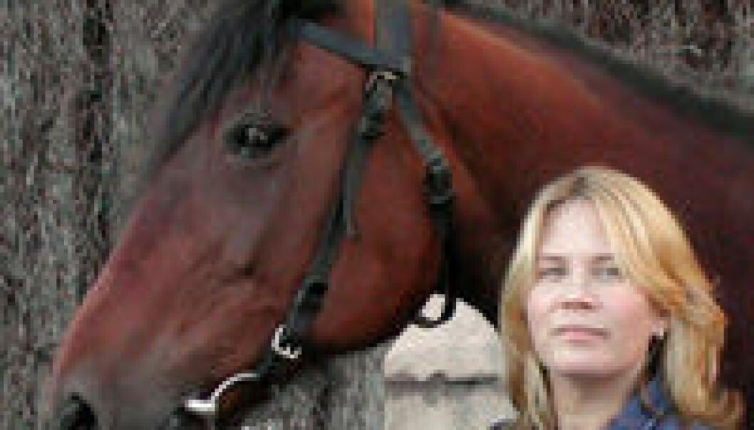 """""""Kristin Olstad og hesten Sand I Love."""""""
