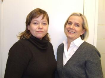 """Sosiolog Line Schou og barnepsykiater Grete Dyb, NKVTS. Foto: Siv Natvig"""