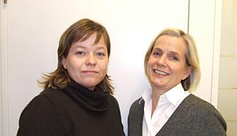 Sosiolog Line Schou og barnepsykiater Grete Dyb, NKVTS. (Foto: Siv Natvig)