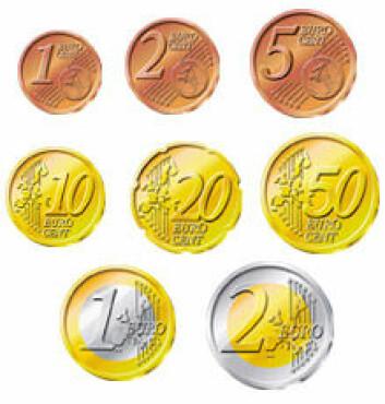 """""""Det er en- og to-euromyntene som er problemet."""""""