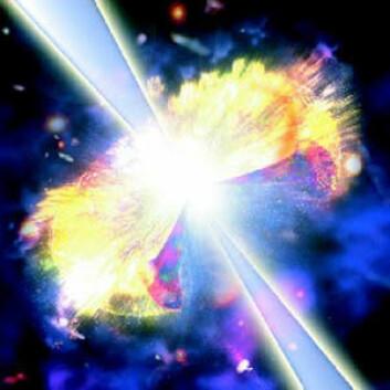 """""""Hypernovaer skaper voldsomme blaff av gammastråling."""""""