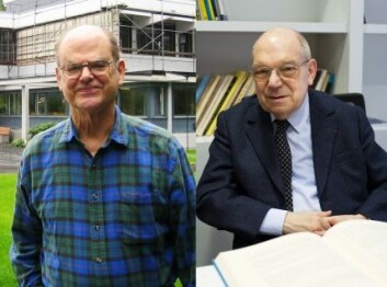 """John Griggs Thompson (t.v) og Jacques Tits (Foto: Renate Schmid/Oberwolfach Photo Collection/Jean-François Dars/CNRS Images)"""