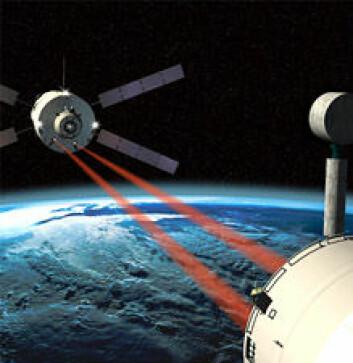 """""""ATV vil på egenhånd koble seg sammen med den Internasjonale Romstasjonen. Til denne oppgaven tar ATV i bruk både lasere, kameraer og annen avansert teknologi."""""""