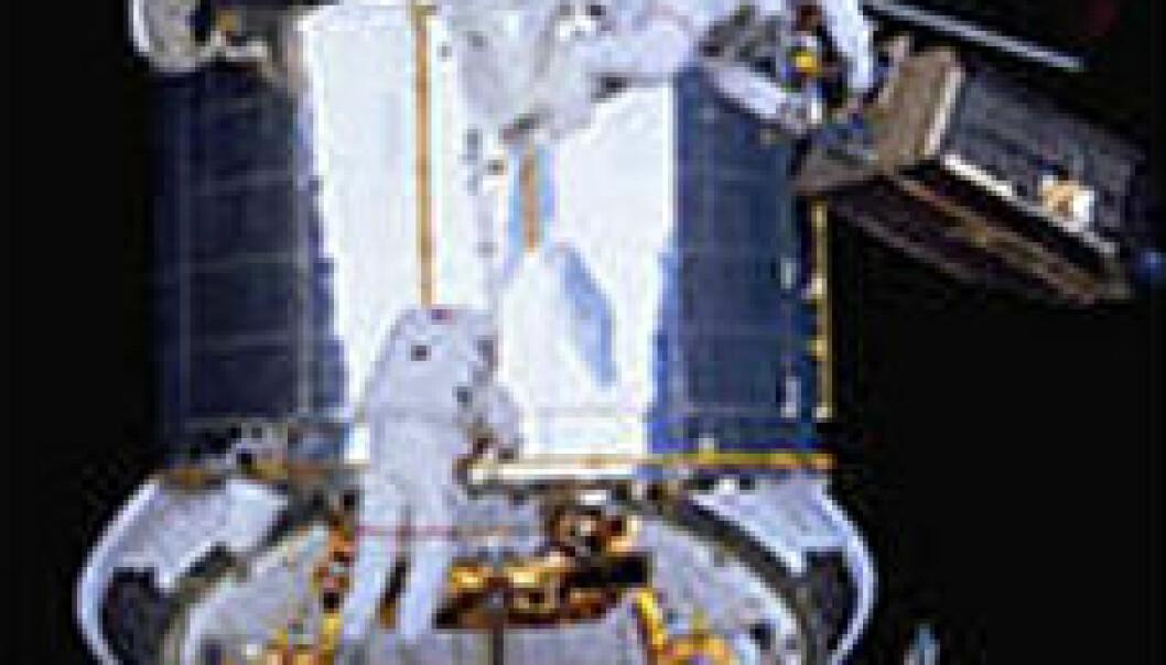 """""""Installeringa av nytt kamera og anna viktig utstyr på Hubble er noko av det vanskelegaste som er gjort i rommet. Foto: NASA"""""""