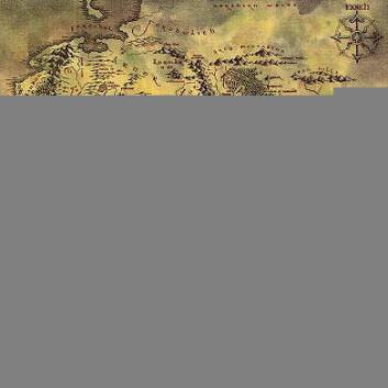 """""""Kart over Midgard - Europa for 6 000 år siden i Tolkiens fantasiverden."""""""