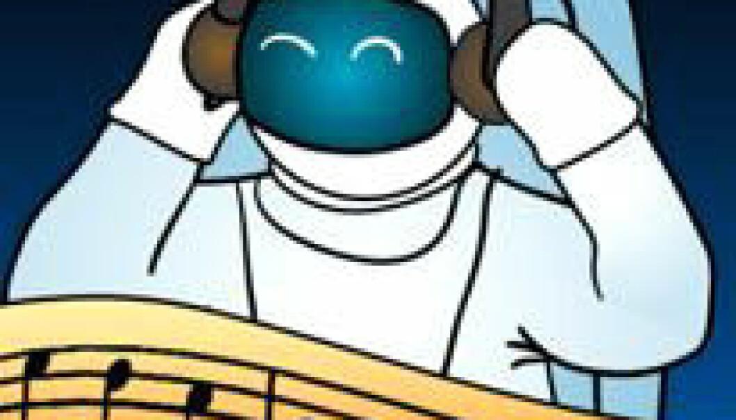 """""""Logoen til ESAs konkurranse om å sende musikk til mannskapet på ISS. Musikken blir sendt opp i slutten av februar med romforsyningsfartøyet Jules Verne ATV"""""""