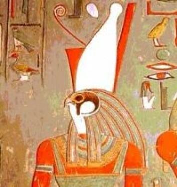 """""""Den egyptiske guden Horus i falkeskikkelse."""""""