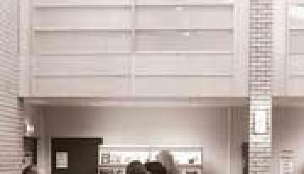"""""""Norske kommuner tenker nytt når det gjelder nye skolebygg. De siste årene er flere gode og vakre skolebygg blitt bygd, mener arkitekt Birgit Cold ved Norges teknisk-naturvitenskapelige universitet (NTNU). Dette bildet er fra Kjellervolla skole i Skedsmo kommune som fikk Norsk Forms skolebyggpris for 2001. (Foto: Norsk Form)"""""""