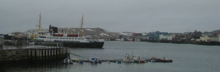 Hurtigruteskipet Nordstjernen legg til kai i Vardø. Foto: Øystein A. Vangsnes
