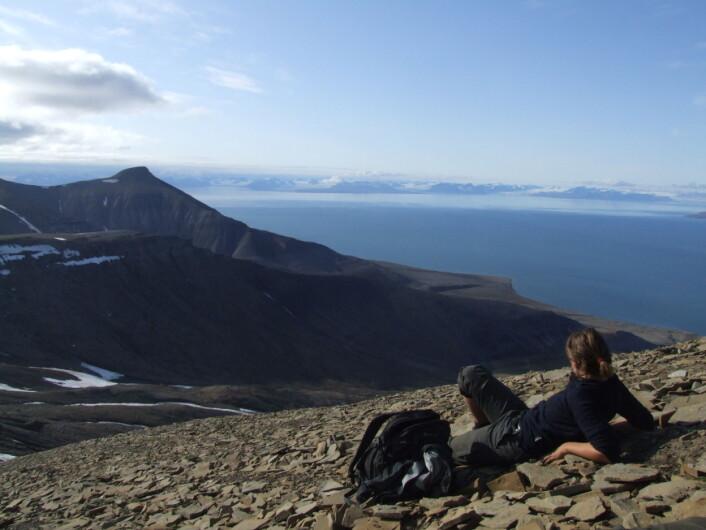 På toppen av verden. Foto: (Foto: Espen M. Knutsen)