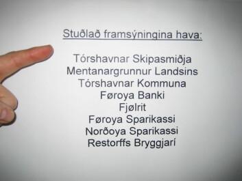 VP-fronting i færøysk (Foto: Gunnar Hrafn Hrafnbjargarson)