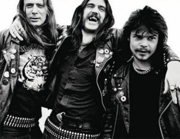 Den klassiske utgaven av Motörhead: Fast Eddie Clarke, Lemmy, Philthy Animal Taylor. (Foto: (Wikimedia Commons))