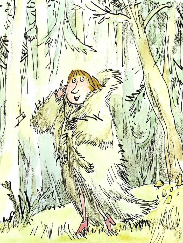 Roald Dahl: Ramperim og ville vers: Rødhette (Foto: Gyldendal/Quentin Blake)
