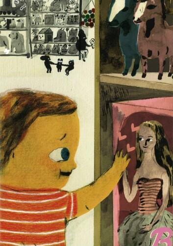 Tinnen og Kanstad Johnsen: Barbie-Nils og pistolproblemet (Foto: Gyldendal/Kanstad Johnsen)