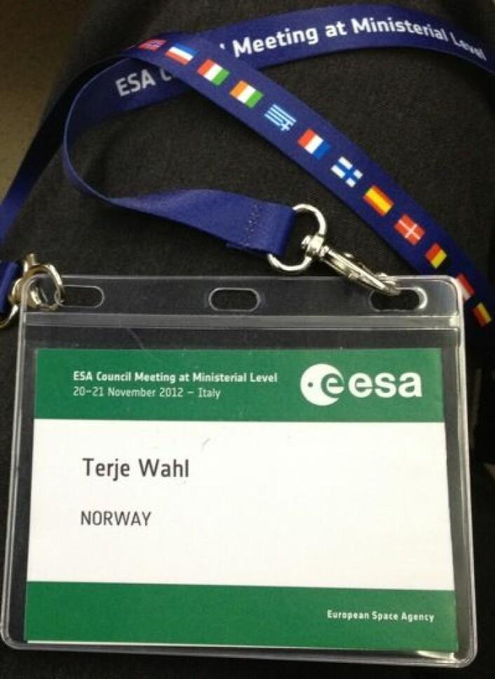 Storpolitikk og italiensk politi på alle gatehjørner - det var en interessant opplevelse å være deltaker på ESAs ministerkonferanse 2012. (Foto: T. Wahl)