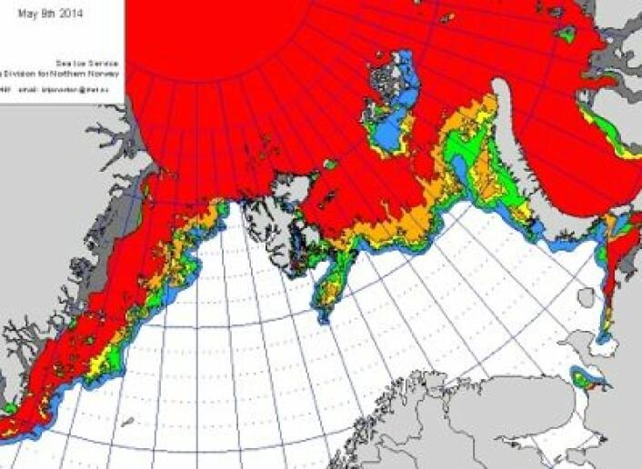 Iskart produsert 9. mai. (Foto: (Sjøistjenesten, MET))