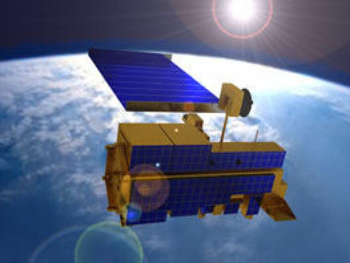 NASAs satellitt Terra måler både hvor mye lys som reflekteres fra skyene og langbølget varmestråling som forlater Jorda. (Foto: (NASA))