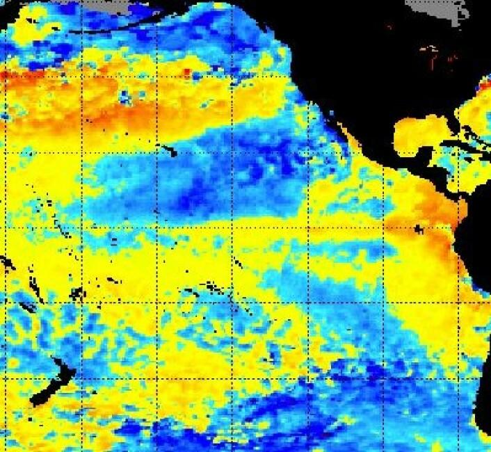 Skal – skal ikke? Stillehavet lurer fortsatt på om det skal gå for en El Ninjo i høst.  (NOAA) (Foto: (NOAA))