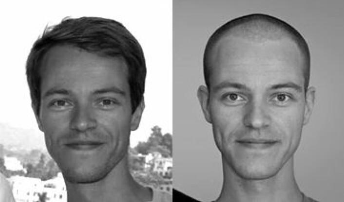 Før og etter 8 månader i California Foto: Jon Olav H. Eikenes