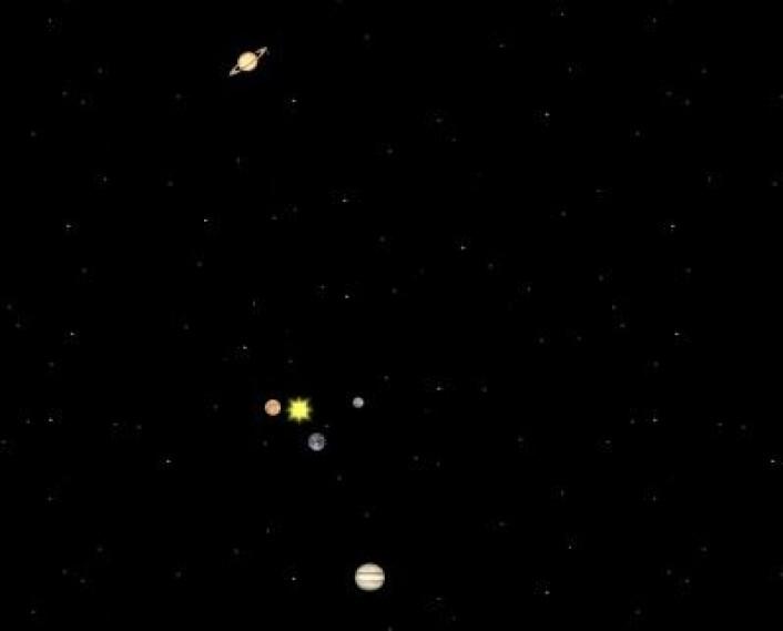 Planetenes posisjoner 5. november 2011. (Foto: (Solar System Simulator))