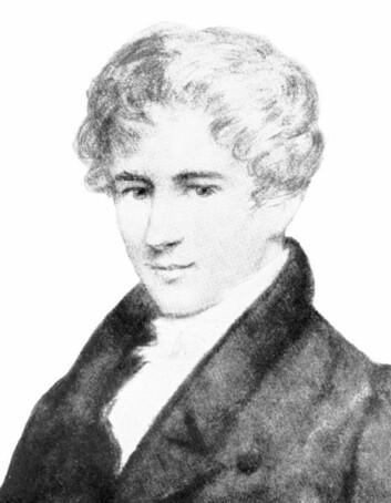 Nils Henrik Abel. (Illustrasjon: Johan Gørbitz)