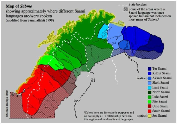 Dei samiske språka. © Bruce Morén-Duolljá, CASTL, UiT (Foto: © Bruce Morén-Duolljá, CASTL, UiT)