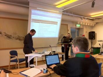 Frå lanseringa av lulesamisk ordbok på nett, Jokkmokk 17. februar 2012. (Foto: Øystein A. Vangsnes)