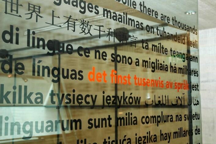Det finst tusenvis av språk. (Foto: © Ivar Aasen-tunet)