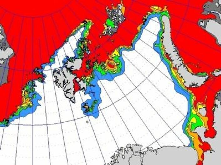 Iskart fra Meteorologisk institutt 7. februar. (Foto: (MET))