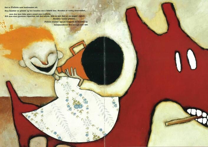 Erlend Loe og Kim Hiorthøy: Den store røde hunden, Cappelen (1996)