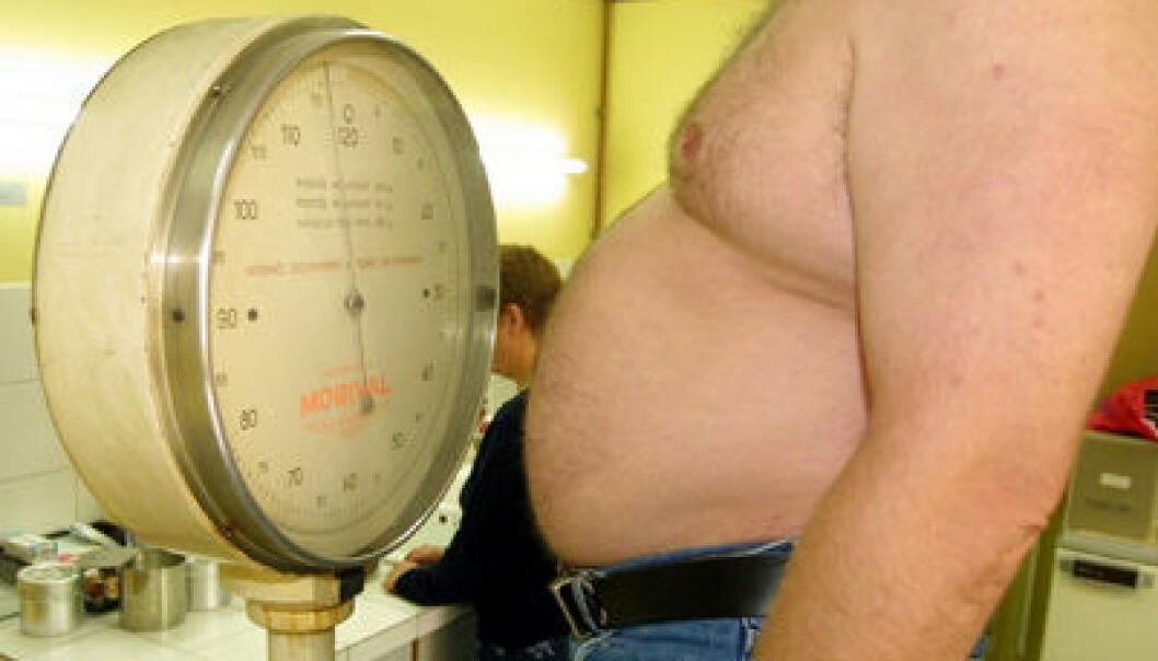 Norge har en rask økning i antall overvektige. Colourbox