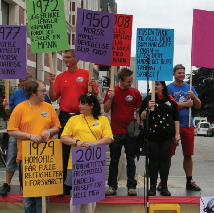Mye har skjedd i Norge når det gjelder holdninger mot homofile, men fortsatt diskrimineres gruppen. (Foto: Fafo)