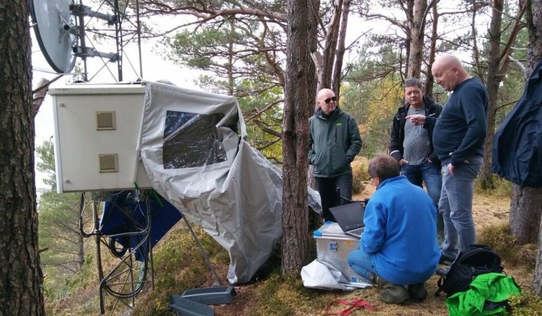 Fra NRKs forsøk med TV over mobile nettverk i Sogn og Fjordane. (Foto: Gunnar Garfors/NRK)