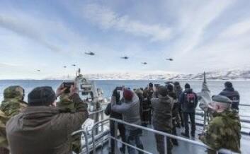 Fra NATO-øvelsen Joint Viking ombord på KV Harstad i 2017. (Foto: Christina Gjertsen/Forsvaret)