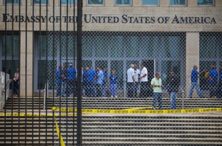 Ansatte ved den amerikanske ambassaden i Havanna ble i fjor og i forfjor rammet av hjernerystelseslignende plager. Nå er de undersøkt av forskere. (Foto: Desmond Boylan, AP/NTB scanpix)