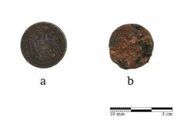Mynten som ble funnet i nærheten av krukken.<br>(Foto: Jànos Balàzs)