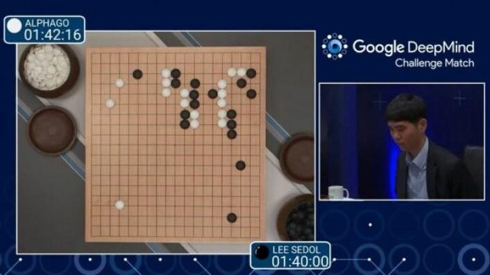Googles AlphaGo vant fire av fem kamper mot verdens ledende spiller i det eldgamle brettspillet go i 2016. (Foto: Prachatal)