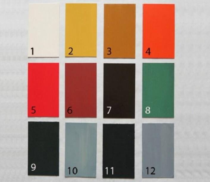 Her ser vi fargene som antagelig var vanlige i vikingtiden. Se utdypning av fargene og hvor dyre de var i teksten under. (Foto: Nationalmuseet, Line Bregnhøi)