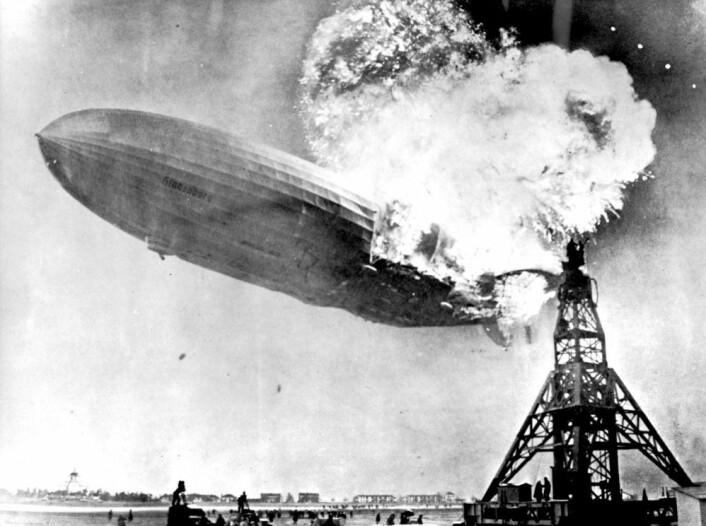 «Hindenburg» måtte fly på hydrogen siden det ikke var nok helium til alle. Til slutt gikk det galt. (Foto: NTB Scanpix)
