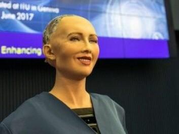 Roboten Sophia fikk i oktober 2017 statsborgerskap i Saudi-Arabia. Anne Gerdes mener det var et mediestunt, siden roboten bare er en avansert chatbot (Foto: David Levy/Flickr)