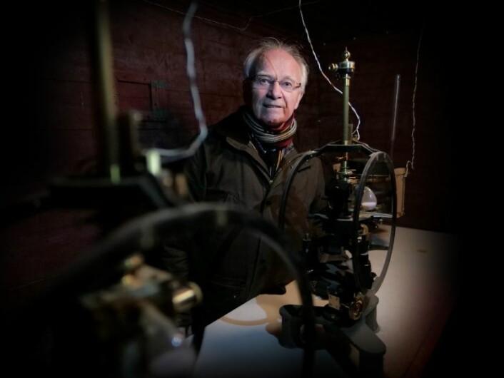 Asgeir Brekke 50 år etter at han først begynte med nordlysforskning. (Foto: Jon Terje Hellgren Hansen)
