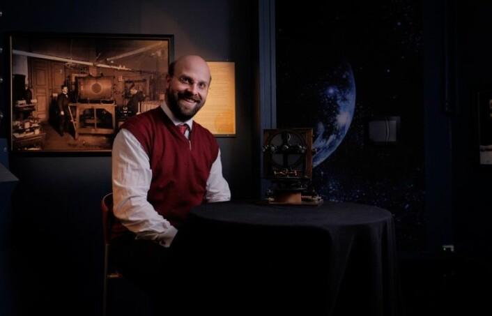 Magnar Gullikstad Johnsen er en av forskerne som skal ta forskningsferden til nordlyset videre. (Foto: Jon Terje Hellgren Hansen)