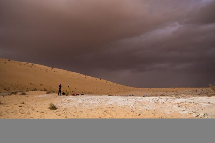Utgravningsstedet i Saudi-Arabia. (Foto: Klint Janulis)