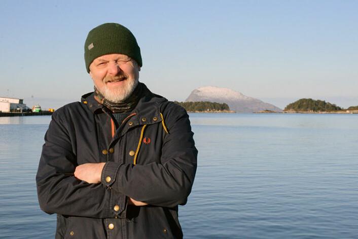 Forsker og prosjektleder Dag Ottesen presenterte de nye sjøbunnskartene i Florø, Norges vestligste by med vel 9000 innbyggere. (Foto: Gudmund Løvø)